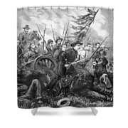 Union Charge At The Battle Of Gettysburg Shower Curtain