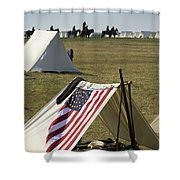 Union Encampment Shower Curtain