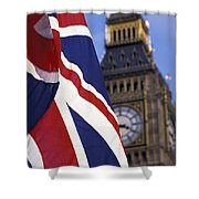 Union Flag And Big Ben Shower Curtain