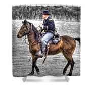 Union Horse Officer Shower Curtain