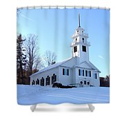 Union Meeting House In West Newbury Vermont Shower Curtain