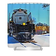 Union Pacific Challenger Shower Curtain