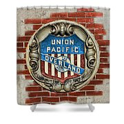Union Pacific Crest Shower Curtain