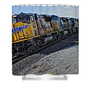 Union Pacific Southbound Shower Curtain
