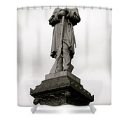Union Soldier In Market Square Shower Curtain