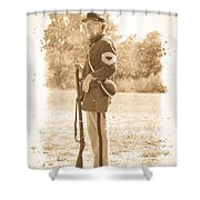 Union Soldier Shower Curtain