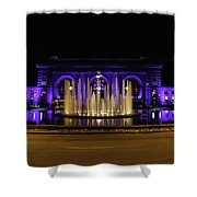 Union Station In Blue Shower Curtain