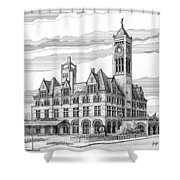 Union Station In Nashville Tn Shower Curtain by Janet King