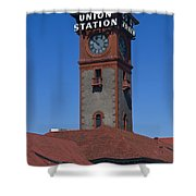 Union Station In Portland Oregon Shower Curtain
