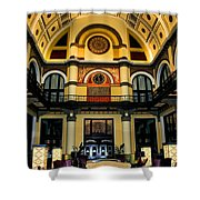 Union Station Lobby Larger Shower Curtain