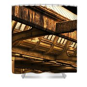 Union Station Roof Beams Shower Curtain