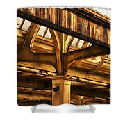 Union Station Roof Structure Shower Curtain