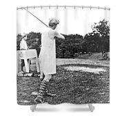 Union Suit Golfer Shower Curtain