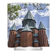 Union Towers Shower Curtain