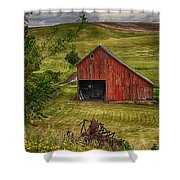 Unique Barn In The Palouse Shower Curtain