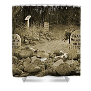 Unique Cemetery Image Shower Curtain