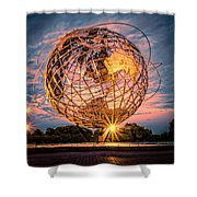 Unisphere At Sunset Shower Curtain