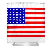 United States 30 Stars Flag Shower Curtain