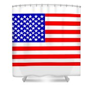 United States 50 Stars Flag Shower Curtain