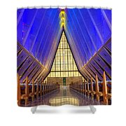 United States Airforce Academy Chapel Interior Shower Curtain