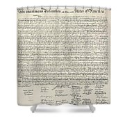 United States Bill Of Rights Shower Curtain