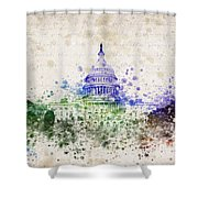 United States Capitol Shower Curtain by Aged Pixel