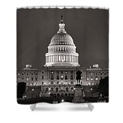 United States Capitol At Night Shower Curtain