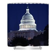 United States Capitol Building Shower Curtain