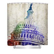 United States Capitol Dome Shower Curtain