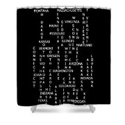United States Crossword Puzzle Art 2 Shower Curtain
