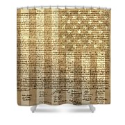 United States Declaration Of Independence Shower Curtain by Dan Sproul