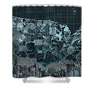 United States Map Collage 5 Shower Curtain