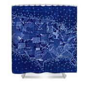 United States Map Collage 7 Shower Curtain