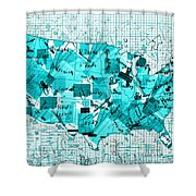 United States Map Collage 8 Shower Curtain