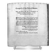 United States Mint, 1792 Shower Curtain