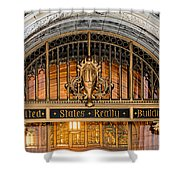 United States Realty Building Entrance Shower Curtain