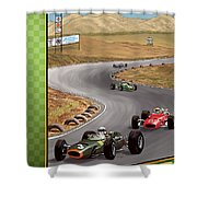 United States Riverside Grand Prix 1967 Shower Curtain