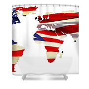 United Worldwide Shower Curtain