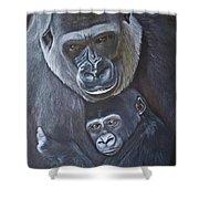 United - Western Lowland Gorillas Shower Curtain