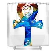 Unity 15 - Spiritual Artwork Shower Curtain