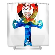Unity 16 - Spiritual Artwork Shower Curtain
