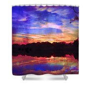 University Lakes At Twilight Shower Curtain