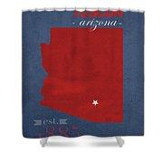 University Of Arizona Wildcats Tuscon Arizona College Town State Map Poster Series No 011 Shower Curtain
