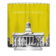 University Of Iowa - Mustard Yellow Shower Curtain