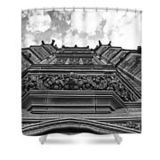 University Of Sydney-black And White Shower Curtain
