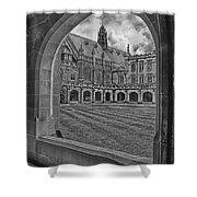 University Of Sydney-black And White V3 Shower Curtain