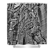 University Of Sydney-black And White V5 Shower Curtain
