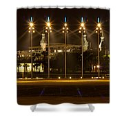 University Of Tampa At Night Shower Curtain