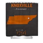University Of Tennessee Volunteers Knoxville College Town State Map Poster Series No 104 Shower Curtain