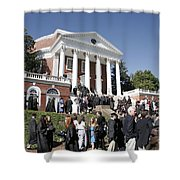 University Of Virginia Rotunda Graduation Shower Curtain